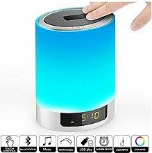 Nachttischlampe mit Bluetooth-Lautsprecher,