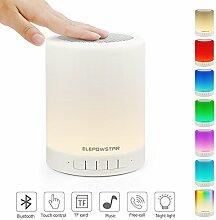 Nachttischlampe mit Bluetooth Lautsprecher,