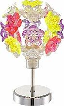 Nachttischlampe mit Bunten Blüten