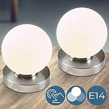Nachttischlampe mit Dimmer Touchfunktion, 1er oder