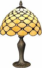 Nachttischlampe mit Edelsteinen cm H41xØ25