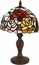 Nachttischlampe mit Rosen cm H35xØ22cm