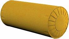 Nackenrolle mit Falten, senffarbe, Ø 20 × 50 cm,