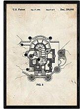 Nacnic Pflanze Poster Patent Disney Schloss. Blatt