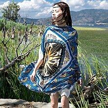 nacola Lady Fashion Elegant weichen Druck Sonnenschutz Vier Jahreszeiten Strand Schals Schals für Geschenk