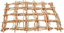 NaDeco® Kokosnetz natur 50x40cm 5 Stück | Rankgitter | Palmennetz | Kokosgitter | Netz aus Kokosrinde | Mammutgeflecht | Kletternetz