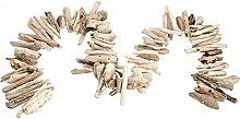 NaDeco® Treibholz Kette natur 90cm | Treibholzkette | Treibholz Girlande | Schwemmholz Kette | Schwemmholzgirlande | maritime Dekoration