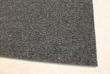 Nadelfilz Teppich anthrazit 2 m breit Auslegware Objektware Größe 250 x 200 cm