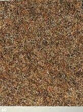 Nadelfilz-Teppich in der Farbe caramel | Nadelvlies-Auslegeware in der Breite 2m x Länge 1,0m | Filz-Bodenbelag als Meterware erhältlich | robust & rutschfest, Beanspruchungsklasse (BK33) | Made in Germany