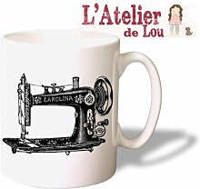 Nähmaschine der Weinlese Mug keramisch Kaffeetasse Kaffeebecher - Originelle Geschenkidee - Spülmaschinefes