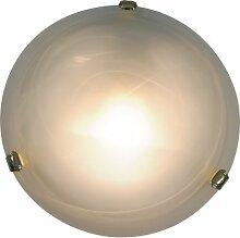 Naeve Leuchten Glasdeckenleuchte / durchmesser: 30 cm / Glas / weiß 117645