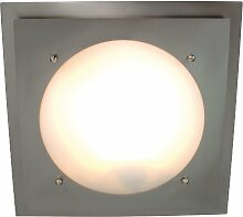 Naeve Leuchten Glasdeckenleuchte / durchmesser: 34 cm / Metall, glas / weiß 158750