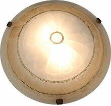 Naeve Leuchten Glasdeckenleuchte / durchmesser: 40 cm / Glas / braun 124264