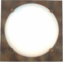 Naeve Leuchten Glasdeckenleuchte / s: 27.5 cm / Metall, glas / rost 129520