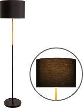 näve Stehlampe Tessile, E27, 1 St. flg., schwarz