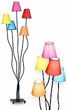 NÄVE Stoff Stehlampe Colori 5-flammig -