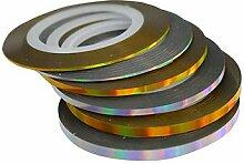 Nagel Striping Tape Line Aufkleber Schönheit Regenbogen Dazzling Dekoration