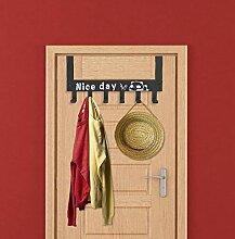 Nagelfrei über Tür Kleiderbügel Schrank
