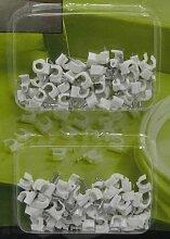 Nagelschellen SET 100 Stück 5 und 6 mm,versch. Größen,Nagel Kabel Schellen Clips (LHS)