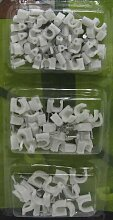 Nagelschellen SET 100 Stück 6,8,10 mm,versch. Größen, Nagel Kabel Schellen Clips (LHS)
