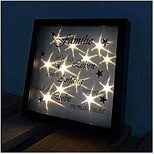 NAGO LED Leuchtbilderrahmen Bilderrahmen Familie