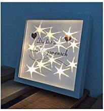 NAGO LED Leuchtbilderrahmen Bilderrahmen
