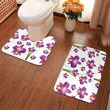 Nahtloser Hintergrund mit violetter Orchidee