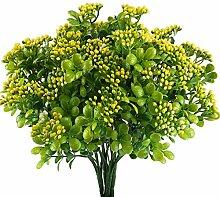 Nahuaa 4pcs Künstliche Pflanze Draußen
