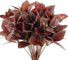 NAHUAA 4pcs Künstliche Pflanzen Deko