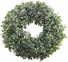 Nahuaa Buchsbaum-Kranz für Haustür-Dekoration,