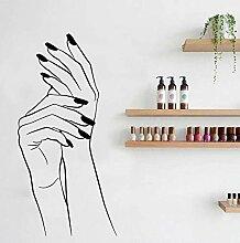 Nail Art Elegante Frau Mädchen Hände Polnische