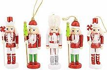 Naimo 6er Set Weihnachten Nussknacker Soldat Deko