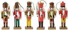 Naimo Set von 6Weihnachten Holz Nussknacker
