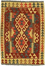 Nain Trading Kelim Afghan 92x66 Orientteppich