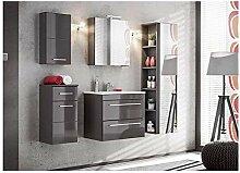 naka24 Twist 60 Badmöbel Set mit Waschbecken