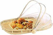 NAKELUCY Hand-Woven Bug Proof Picknickkorb,