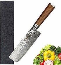 Nakiri 6,5 Zoll Usuba Japanische Hammer 67layers