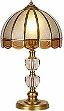 nakw88 Tischlampe Retro Glas Kristall Kupfer