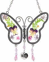 Naler Mom Schmetterling Mutter Suncatcher mit