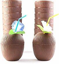 Naliovker 18 Pack Kokosnuss Becher für die