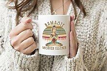 Namaste Mother Fucker Weißer Becher Kaffee Tee