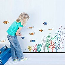 Namefeng Underwater Fish Plant Wall Stickers for