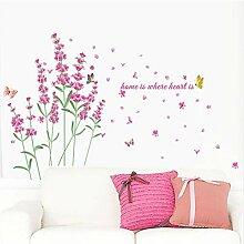 Namefeng Wunderbare Lavendel Blumen Wandtattoos