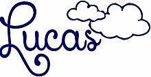 Namen Aufkleber Boy Wand Aufkleber Wolken