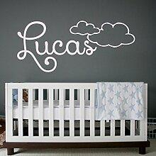 Namen Aufkleber Boy Wand Aufkleber Wolken Aufkleber Vinyl Buchstaben Kinder Schlafzimmer Kinderzimmer Decor Art Wandmalereien MN84