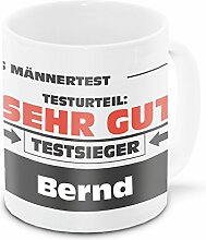 Namens-Tasse Bernd mit Motiv Stiftung Männertest,