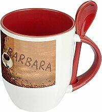 Namenstasse Barbara - Löffel-Tasse mit