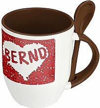 Namenstasse Bernd - Löffel-Tasse mit Namens-Motiv