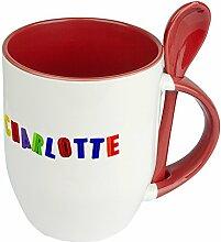Namenstasse Charlotte - Löffel-Tasse mit
