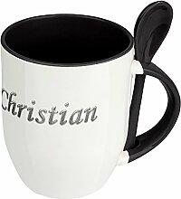 Namenstasse Christian - Löffel-Tasse mit